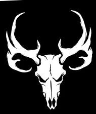 Whitetail Deer Skull Sticker Antlers Bone Hunting Buck Trophy Rack Vinyl Decal