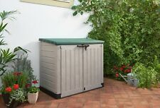 """""""Keter Max 1200L Garden Storage Shed Large Box Lock Outdoor Waterproof Plastic"""""""