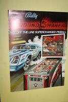 BALLY Nitro Ground Shaker pinball flyer brochure pamphlet BRAND NEW. Year 1980.