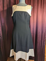*Ivanka Trump Navy & Ivory Dress Size 6 NWT Closet206*