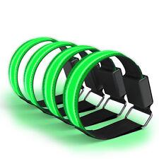 4x LED Leuchtarmband Joggen Reflektorband Blinklicht Sport Armband Grün