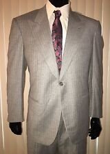 Mens New LORO PIANA SIGILLO DI GARANZIA SUIT ITALY WOOL/CASHMERE 1BTN GREY 42 36