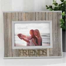 """Celebrations Rustic Wooden Photo Frame 6"""" x 4"""" - Friends"""