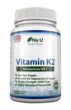 Nu u Nutrition Vitamin K2 MK 7  200 mcg - Pack of 365