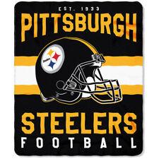 Pittsburgh Steelers NEW Licensed Fleece Throw Blanket Football Team 50'' X 60''