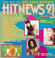 Hit-News 91/3 (K-tel) Roxette, Erasure, Sydney Youngblood, KLF, De La Sou.. [CD]