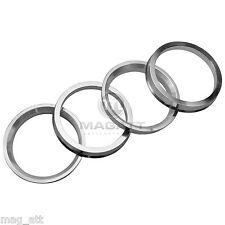 4 Zentrierringe Aluminium 70,4 - 66,6 Mercedes Audi Rondell Rial Alutec Aluett