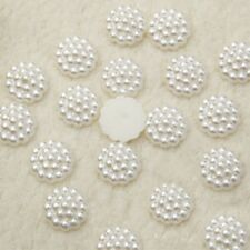 40 x 13 mm PEARL FLOWERS, FLAT BACK, WEDDING CRAFT EMBELLISHMENTS. UK SUPPLIER