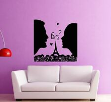 Wall Stickers Vinyl Decal Love Paris France Romantic Couple in Love (ig454)