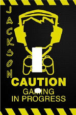 Personalized Caution Gamer In Progress Video Game Switch Plate Cover
