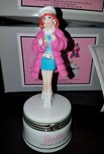 New Barbie Groovy Sixties w/Sunglasses Porcelain Phb Hinged Box - Great Gift