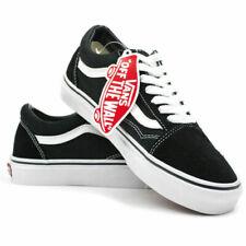 VAN Old Skool Skate Shoes Black/White Classic Canvas UK3-9.5 EU36-44 & AU