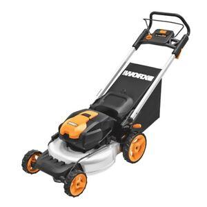 """WORX WG774 56V 20"""" Cordless Electric Lawn Mower with Intellicut & Mulch Plug"""
