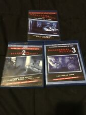 Paranormal Activity Trilogy (3-Blu-ray Movies) Very Good Condition