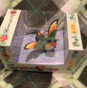 RARE limited Edition  Steiff Hummingbird Bird Ornament MIB