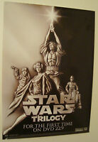 STAR WARS TRILOGY original 2004 70 x100cm RARE MOVIE FILM POSTER VIDEO vintage