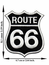 Route 66 Highway Road Classic Biker Car USA V03 Logo Applique Iron on Patch Sew