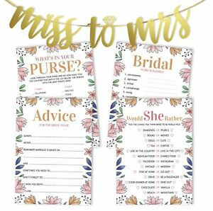 Inkdotpot Bridal Shower Games Set Of 4(50 Sheets Each) w / Miss-9eO
