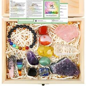 13 Pieces Healing Crystals Set, Chakra Stones Kit Include Instructions and