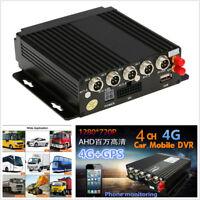 Car Mobile 4CH DVR SD Card 3G/4G/Wifi GPS Antenna Realtime Video Recorder+Remote