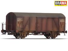 BRAWA 48808 H0 Gedeckter Güterwagen Gms54 der DB gealtert ++ NEU & OVP ++