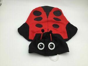 Bootique Ladybug Fleece Black and Red Hoodie Dog Costume