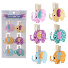 4 Packs of Elephant Pegs Crafting Art Card Making Christmas Gifts Presents