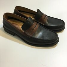 Giorgio Brutini Tri-Comfort System Black Brown Penny Loafers Leather Shoes 8 M