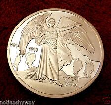 De plata Guerra Mundial I Moneda Angel 1914 1918 Excelente iers Man Angel V II