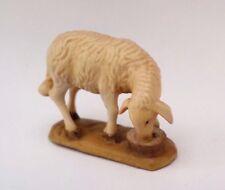 1 Schaf Krippen Figur Holz Grödnertal handgeschnitzt bemalt H: 3,7 cm