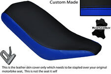 BLACK & ROYAL BLUE CUSTOM FITS BASHAN 200 QUAD DUAL LEATHER SEAT COVER ONLY