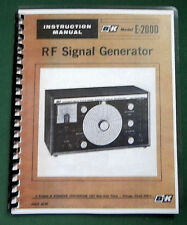 B&K E-200D Signal Generator Instruction Manual: Comb bound & Protective Covers