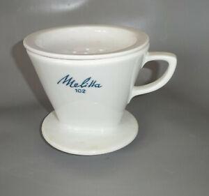 Vintage Kaffeefilter Metlitta 102 Porzellan Filter !