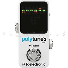 TC Electronic PolyTune 2 Mini Chromatic Guitar Electronics Tuner Pedal v2 - NEW
