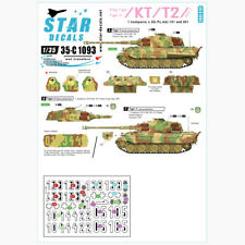 Star Decals 1/35 KT/T2 King Tiger/Tiger II Pt.1 decals