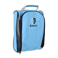 Portable Durable Nylon Golf Shoes Bag Blue Travel Storage Bag