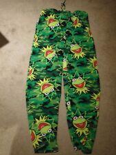 Kermit The Frog Muppet's Disney Men's Pajama/Lounge Bottoms 2 Pockets Small