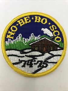 Boy Scouts Camp No-Be-Bo-Sco Winter Camping 74-75 patch
