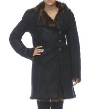 Plein Sud Leather/Fur Coat - Size 38