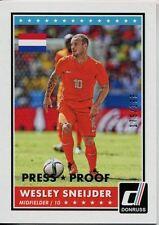 Donruss Soccer 2015 Silver Parallel [199] Var. Base Card #36 Wesley Sneijder