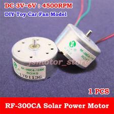 DC 3V 5V 6V 4500RPM Mini RF-300CA Solar Power Motor Small Round DC Motor DIY Toy