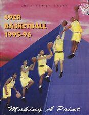 1995-96 LONG BEACH STATE 49ERS NCAA BASKETBALL MEDIA GUIDE
