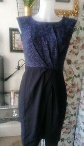 LK BENNETT navy pencil dress. size 10/ 12 New