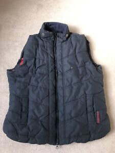 Ladies Harry Hall Navy Blue Padded Gilet Equestrian Country L