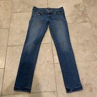 American Eagle Super Stretch Skinny Jeans Womens Size 4 Blue Stretch Denim