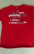 Majestic St. Louis Cardinals Red Dad and  Cardinals fan tee
