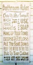 Bathroom Rules, Bathroom Rules Sign, Bathroom Wood Sign, Bathroom Sign, Toilette