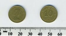 Hong Kong 1983 - 10 Cents Nickel-Brass Coin - Queen Elizabeth II
