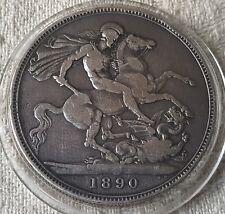 1890 Queen Victoria Jubilee Head Silver Crown Coin Lot 12