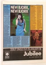 BJORK 'Sheffield 1996 concert review' ARTICLE / clipping